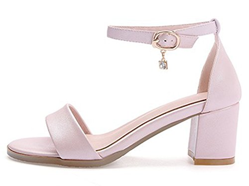 Sandales Cheville Bout Mode Femme Ouvert Rose Aisun Bride gqawYxRRX