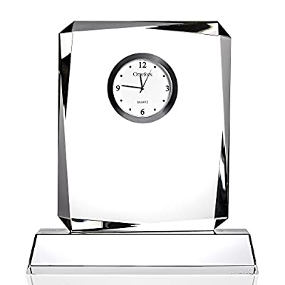 Orrefors 6719730 Vision Table Clock, Large - Part of the vision collection Made of Crystal Orrefors designs - clocks, bedroom-decor, bedroom - 41YDjDfnkCL. SS400  -