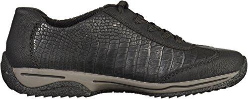 Rieker L5222 Damen Sneakers Schwarz/Silber