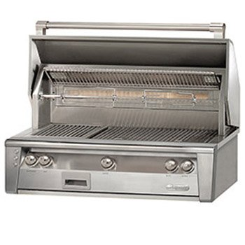 Alfresco ALXE-42SZ-NG 42″ Natural Gas Built-In Sear Zone Grill up to 108000 BTUH with Sear Zone Rotisserie and Built-In Motor in Stainless