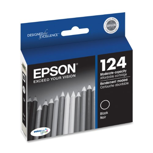 Epson T124120 DURABrite Ultra Black Moderate Capacity Cartridge Ink