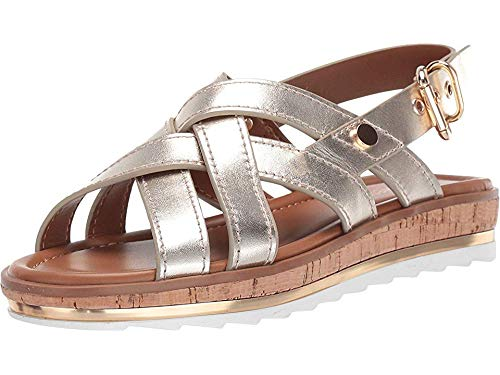 Nine West Women's Aliyah Sandal Light Gold 11 M US