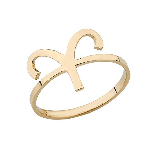 Yellow Gold 14k Aries Zodiac Horoscope Ring (Size 7) 14k Yg Mens Ring