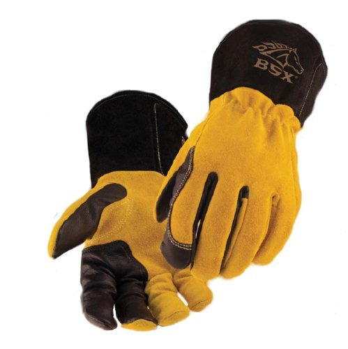 BSX Premium 3 Kidskin Finger Cowhide Back TIG Welding Gloves - BT88 LARGE