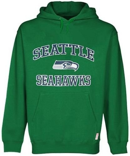 Sweatshirt Therma Base (Majestic Seattle Seahawks NFL HD Therma Base Mens Kelly Green Hoodie Big Sizes (3X))