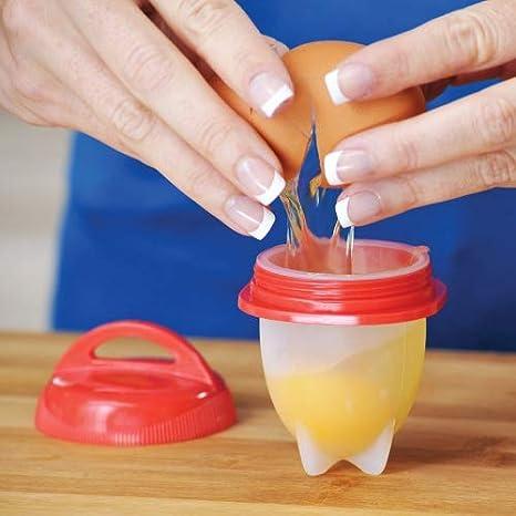 Escalfador de huevos, de silicona antiadherente sin BPA, sin cáscara, material rígido y suave, para el Día de la Madre: Amazon.es: Hogar