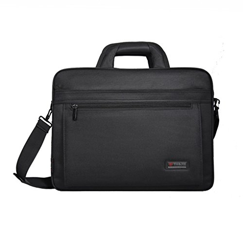 Slim Compact Lightweight 15/16 inch Adjustable Strap Computer Laptop/Notebook/Tablet/MacBook/iPad Handbag Messenger Shoulder Bag Business Briefcase Travel School Carrying Sleeve Case Tote (Black 16'') (Tech Partner Laptops Pc)