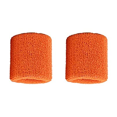 Garciakia Pair Pure Cotton Wristbands Soft Wrist Guard Support Bands Wrist Bands Sport Sweatbands for Playing Basketball Tennis Estimated Price £0.01 -