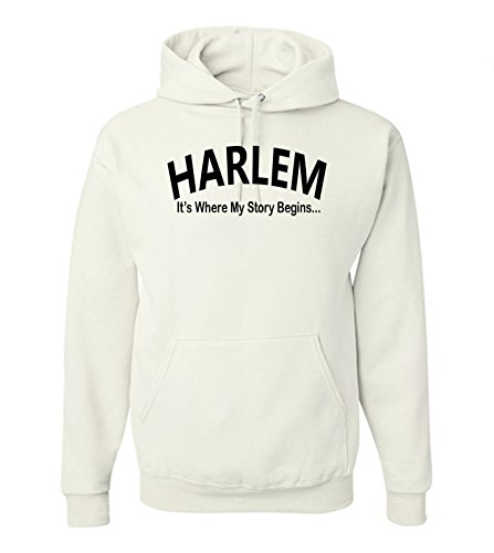 Harlem Story Hoodie-S-White - Mall Harlem Chicago