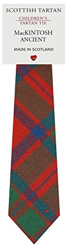 Boys Clan Tie All Wool Woven in Scotland MacKintosh Ancient Tartan