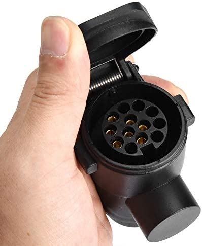 Akozon 7〜13ピンカートレーラープラグソケットアダプターコンバーターキャラバントウバーけん引コネクター12V