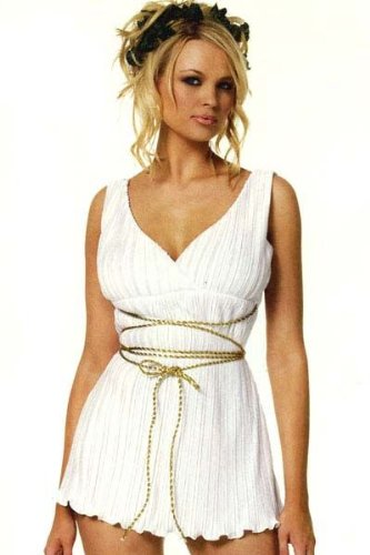 Leg Avenue Women's Greek Goddess Costume, White, Medium/Large -