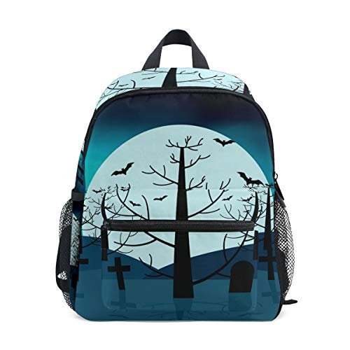 - imobaby Moon Light Halloween Unisex Outdoor Daypacks Bags 2th 3th 4th Grade School Backpack for Kids Boys Girls