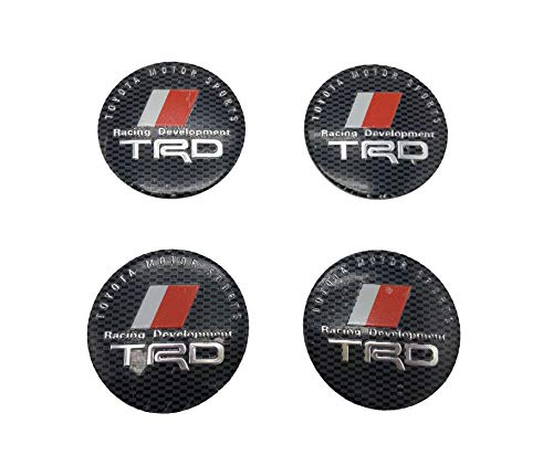 (Lingyi TRD Wheel Center Hub Caps, TRD Wheel Hub Cover, TRD Sticker Decal Replacements Logo Badges Emblems,4pcs)