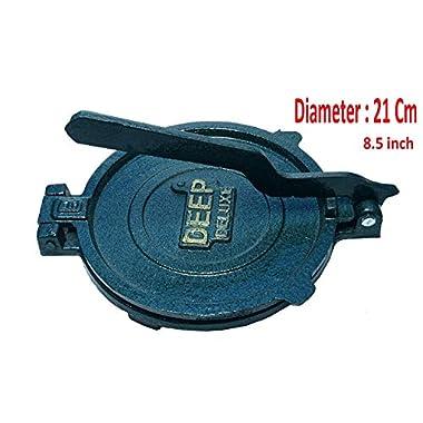 Esspy™ DEEP Deluxe Heavy Quality Iron(CI Casting) Bid Puri Maker Puri Press Kitchen Press Chapati Machine Roti Maker(Size-Big) (DEEP-Big, 3.7) 8