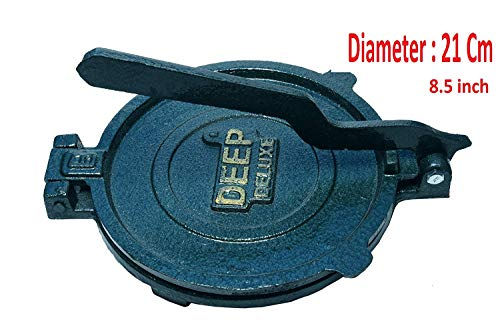 Esspy™ DEEP Deluxe Heavy Quality Iron(CI Casting) Bid Puri Maker Puri Press Kitchen Press Chapati Machine Roti Maker(Size-Big) (DEEP-Big, 3.7) 3