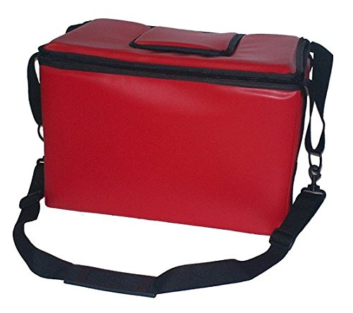 TCB Insulated Bags HWK-1-Red Food and Beverage Carriers: Hawking Vending Bag without Dispensing Lid, 12'' x 18'' x 12'', Red by TCB Insulated Bags