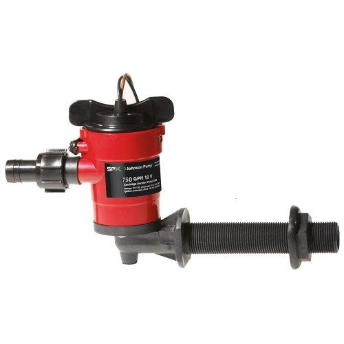 90 Pump (Johnson Pump Cartridge Aerator 750 GPH 90 and No 176, Intake - 12V)