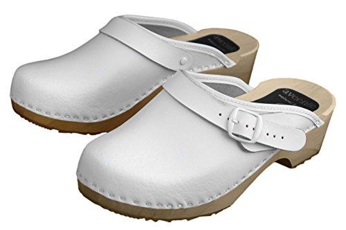 aveente, Damen Clogs & Pantoletten , weiß - weiß - Größe: 35 EU