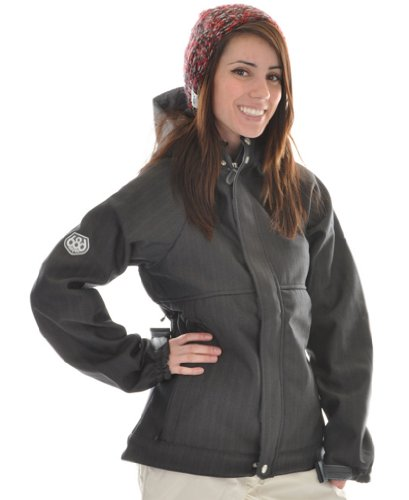 686 Plexus Quest Softshell Ski Snowboard Jacket Gunmetal Womens Sz XS (Ski Jacket Women 686)