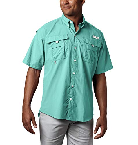 Columbia Men's PFG Bahama II Short Sleeve Shirt - Big , Gulf Stream, XXX-Large