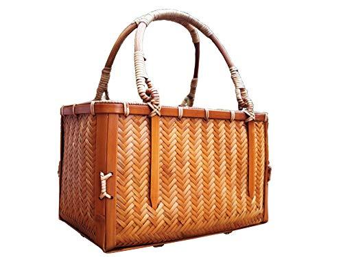 New Fair Trade Handmade Art - Takemoto Bamboo-Woven Handmade Fashion Bamboo Handbag