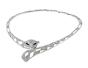 L&F - RED APPLE 18K RGP Alloy Fox Necklace (White Gold) M.