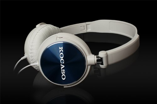 KOCASO Lightweight Folding Powerful Bass Stereo Headphones. Great for Travel, Gym, Workout, Running, Jogging, Sports, Kids, Men, Women, Gaming, iPods, iPhones, Samsung Galaxy, Note, LG, Android, Windows Smart Phones, Tablets, Macbooks, Computers, Laptops, MP3/MP4 Players- (White)