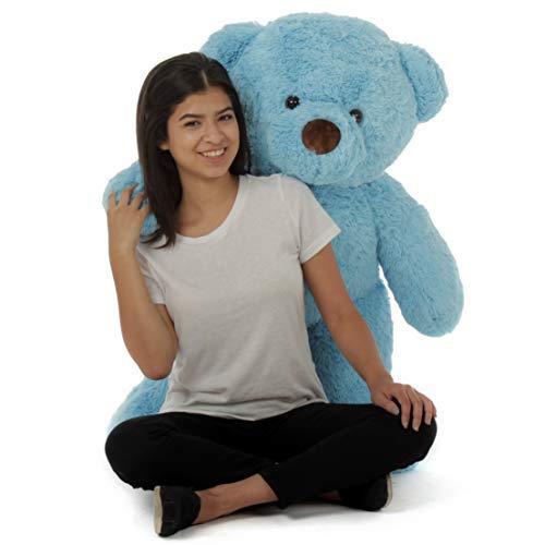 (Giant Teddy Original Bear Brand - Biggest Selection of Life Size Stuffed Teddy Bears (Sky Blue, 3 Foot))
