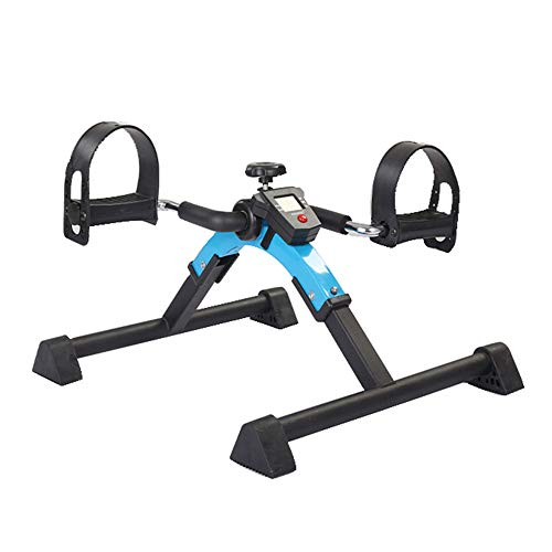 Xinrangxin Pedal Exerciser - Foldable Portable Foot, Foldable Counter with Watch Exercise Bike, Hand, Arm, Leg Exercise Pedal, Exercise Bike Pedal with LCD Monitor for Light Exercise