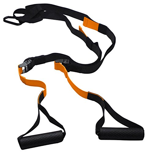 URBNFit Ultimate Bodyweight Trainer - Orange Suspension Straps - Ideal Home Gym Training System