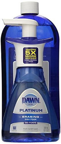 Dawn Platinum Erasing Dish Foam, Dishwashing Soap Pump And Refill Fresh Rapids Scent Kit