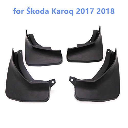 HIGH FLYING Black Splash Guards Mud Flaps Mud Guards 4pcs For Karoq 2017-2019 car accessory