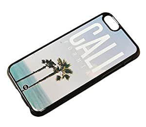 1888998214260 [Global Case] Los Angeles USA California Thank you Venice Beach Sunset City of Angels Urban Landscape Sunshine Sun Happy Palmtree F¨ºtes (BLACK CASE) Snap-on Cover Shell for Apple iphone 4s