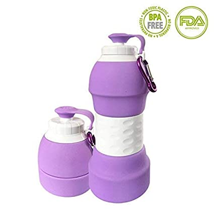 Bilymate Foldable Collapsible Water Bottle, Silicone Anti Leakage with Leak  Proof Kids and Adults Water Bottles Foldable Travel Outdoor Sports Light  Wight ... d7eeac3cda