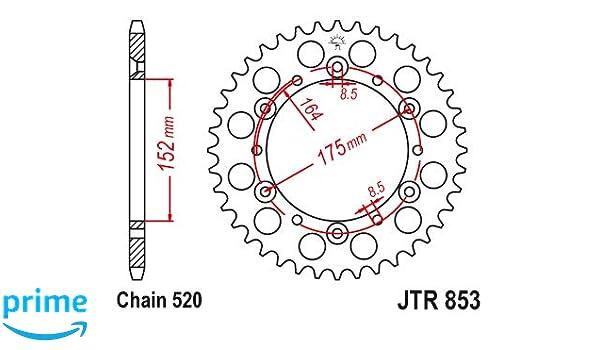 Steel Rear Sprocket 40 Tooth Yamaha Banshee Blaster Warrior Raptor  #JTR853.40