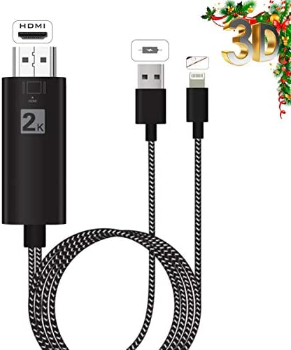 Cable adaptador de teléfono a HDMI, 6.6ft HDMI para iPhone iPad a TV, compatible con iPhone XS/XSmax/XR/X/8/7/6/Plus, iPad iPod a TV 2 m negro: Amazon.es: Industria, empresas y ciencia