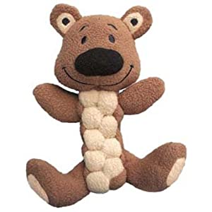 KONG Pudge Braidz Dog Squeaker Toy Color:Bear Size:Pack of 2 Click on image for further info.