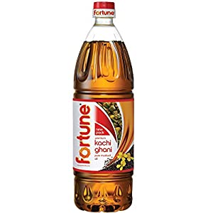 Fortune Kachi Ghani Pure Mustard Oil, 1L (Pet Bottle)