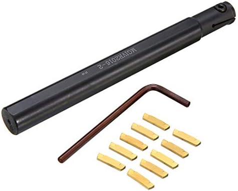 NO LOGO ZDX-CHEXIAODJ, 10 stücke MGMN200 Hartmetalleinsatz + 1 stück Hohe Spannkraft MGIVR2016-2 Drehwerkzeug Bohrstangenhalter + Schraubenschlüssel (Size : 16mm)