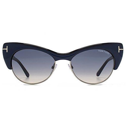 Tom Ford Lola Sunglasses FT0387 89W, Navy Blue Frame, Blue Gradient Lens, - Sunglasses Ford Blue Tom