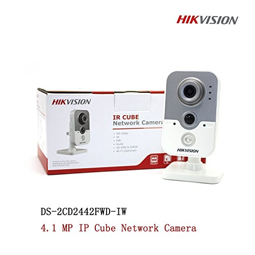 Hikvision IP Camera 4MP PoE Indoor IR Wireless WiFi Cube Camera with WDR DS-2CD2442FWD-IW 2.8mm-International English Version