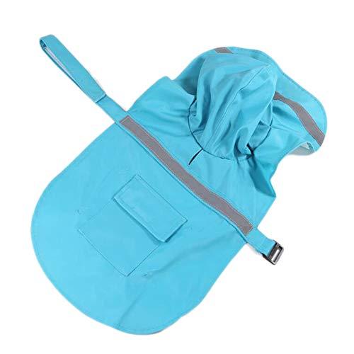 Dog Raincoat, Waterproof Snow Proof Clothes, Adjustable Rainy Days Slicker for Small Medium Large Dogs, Pet Lightweight Rain Jacket Poncho, Outdoor Rainwear Coat, with Reflective STRI (XL, Turquoise)]()