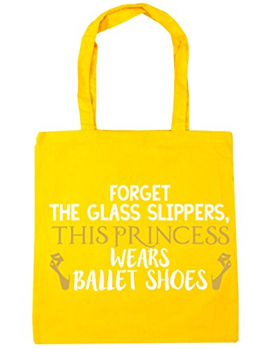 this Beach Forget HippoWarehouse Bag Tote x38cm Shopping the princess glass 42cm litres Yellow slippers 10 shoes wears Gym ballet 7I44drqx