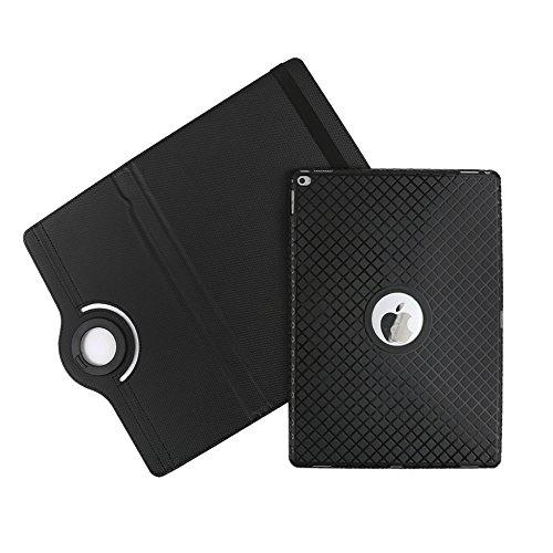 BoriYuan iPad Mini 360 Degree Rotating Stand PU Leather Case Protective Flip Folio Detachable Soft Rubber Cover For Apple iPad Mini 1/ Mini 2/ Mini 3 with Card Slot+Screen Protector+Stylus (Black) Photo #3