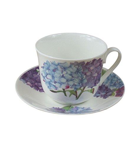 Roy Kirkham Jumbo Breakfast Cup and Saucer in Hydrangea - Breakfast Set China Bone