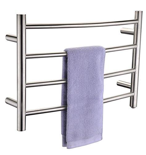 [해외]글로우 브러쉬 4 바 전기 수건 워머/Glow 4-Bar Electric Towel Warmer in Brushed Nickel