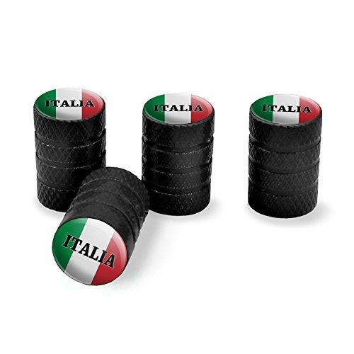 Graphics and More Italia Italy Italian Flag Tire Rim Wheel Aluminum Valve Stem Caps - ()