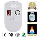 Propane/Natural Digital Gas Detector, Home Gas Alarm, Gas Leak Detector,High Sensitivity LPG LNG Coal Natural Gas Leak Detection, Alarm Monitor Sensor Home/Kitchen