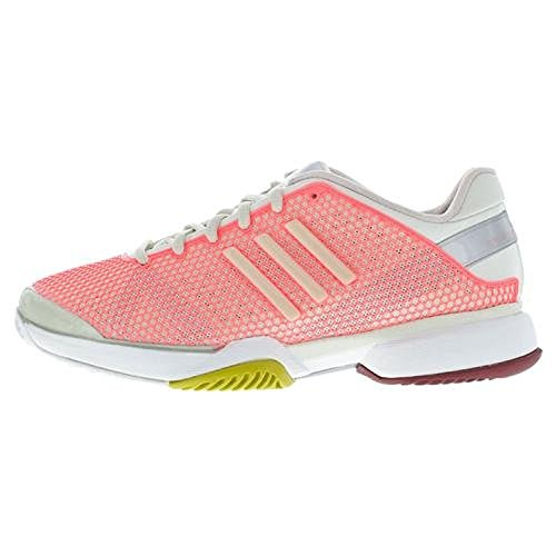 adidas Women`s Stella McCartney Barricade Tennis Shoes Poppy Pink and Soft Powde